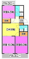 JUN上福岡[2階]の間取り