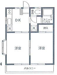 セイコーハイム[2階]の間取り