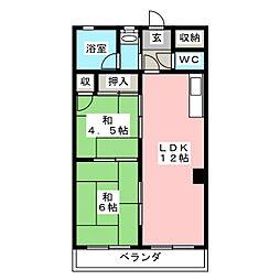 プレス金子ビル[3階]の間取り