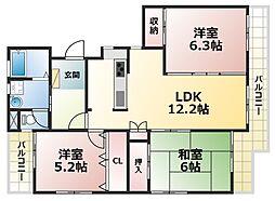 ワコーレ赤坂山手[2階]の間取り