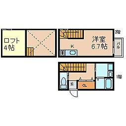 [テラスハウス] 愛知県常滑市新開町1丁目 の賃貸【/】の間取り