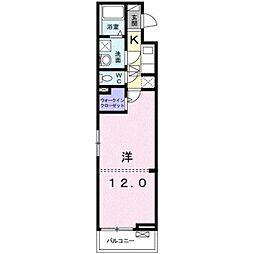 JR東海道本線 平塚駅 バス21分 西真土下車 徒歩4分の賃貸アパート 1階1Kの間取り