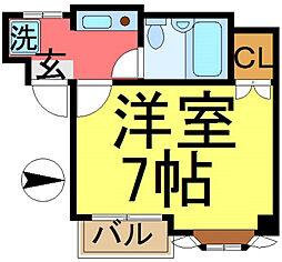第1トーケンマンション[301号室]の間取り