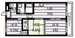フローラル マンション[4階]の間取り