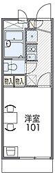 南海高野線 百舌鳥八幡駅 徒歩6分の賃貸マンション 3階1Kの間取り