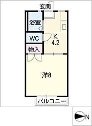 カーサ伊倉 B棟[1階]の間取り