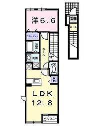 リベラル K2[2階]の間取り