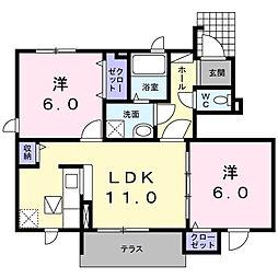 Jハイツ[1階]の間取り