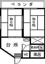 カシヤマアパート[103号室]の間取り