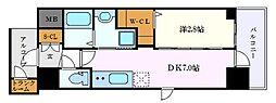 名古屋市営東山線 新栄町駅 徒歩11分の賃貸マンション 9階1DKの間取り