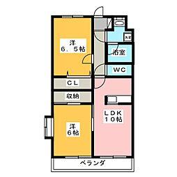 エル・ドラードII[3階]の間取り