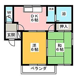 ハミング香久山[1階]の間取り