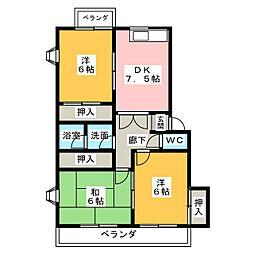 サンライトM.II[3階]の間取り
