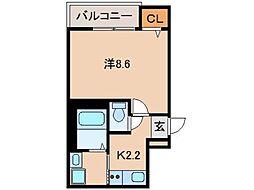 フジパレス田中町[2階]の間取り