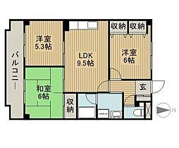 パークサイド桜台[3階]の間取り