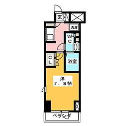 LIBR GRANT 神楽坂 11階1Kの間取り