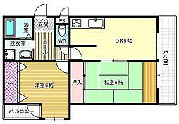メゾンアルカディア[1階]の間取り