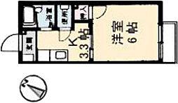 広島県広島市南区大州2丁目の賃貸アパートの間取り