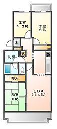 戸山ハウス[2階]の間取り