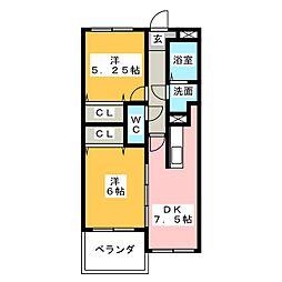 サンヒルズII[2階]の間取り