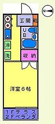 高尾ベルシオン[205号室]の間取り