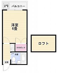プロシード浦賀丘[203号室]の間取り