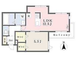 JR南武線 宿河原駅 徒歩11分の賃貸マンション 3階1LDKの間取り