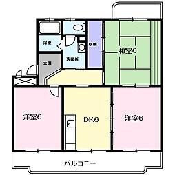 千葉県大網白里市ながた野1の賃貸マンションの間取り