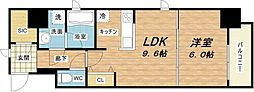 プレサンスNEO淀屋橋[5階]の間取り