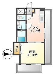 CLAIR HEIWA(クレール ヘイワ)[2階]の間取り