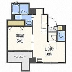北海道札幌市中央区南十五条西13丁目の賃貸マンションの間取り