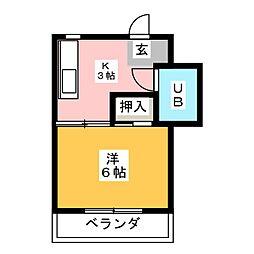 スズキビル[2階]の間取り