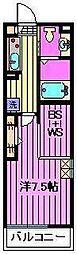 ベルビュー[3階]の間取り