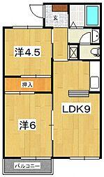 KSハイムA[202号室号室]の間取り
