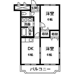 ベルサージュ21[2階]の間取り