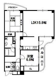 グランツ新大阪[7階]の間取り