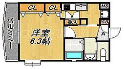 コスモス御笠川[2階]の間取り