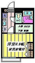 埼玉県さいたま市桜区田島1丁目の賃貸アパートの間取り