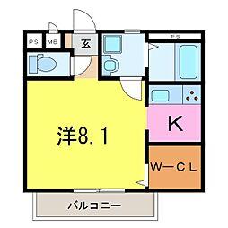 仮)井ヶ谷町1K共同住宅[202号室]の間取り
