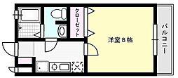 ビームII[201号室]の間取り