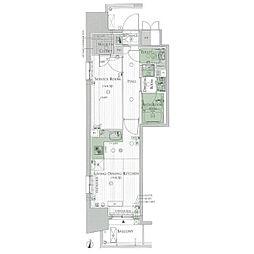 エステムプラザ名古屋丸の内[13階]の間取り