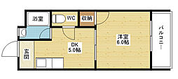 門田マンション[4階]の間取り