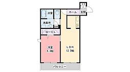 阪急神戸本線 夙川駅 徒歩5分の賃貸マンション 2階1LDKの間取り