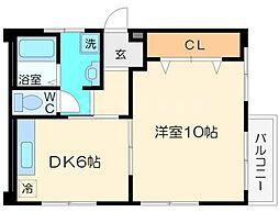 豊新マンション[2階]の間取り