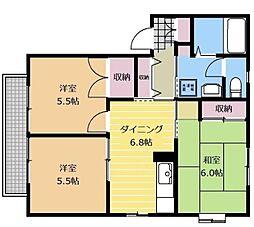 神奈川県相模原市南区当麻の賃貸アパートの間取り
