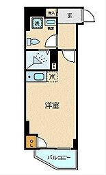 ブライトヒルレジデンス横浜 5階ワンルームの間取り