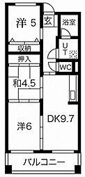 JR東海道・山陽本線 摩耶駅 徒歩8分の賃貸マンション 8階3LDKの間取り