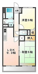 LUMIERE甲子園一番町[3階]の間取り