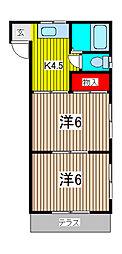 コーポ柳崎[105号室]の間取り