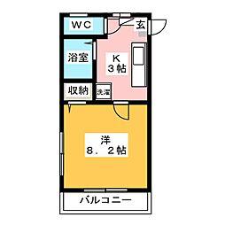 第3筑水ビル[4階]の間取り